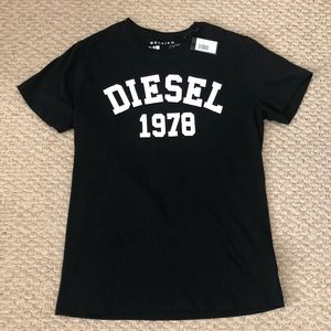 Diesel Men's T-EHM T-Shirt Tee (Black)